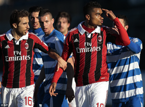 Raging: Kevin-Prince Boateng walked off during a friendly between AC Milan and Pro Patria in January