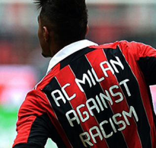 AC Milan's Kevin Constant walks off pitch after racist abuse.
