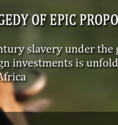 The African People face an existential Threat.